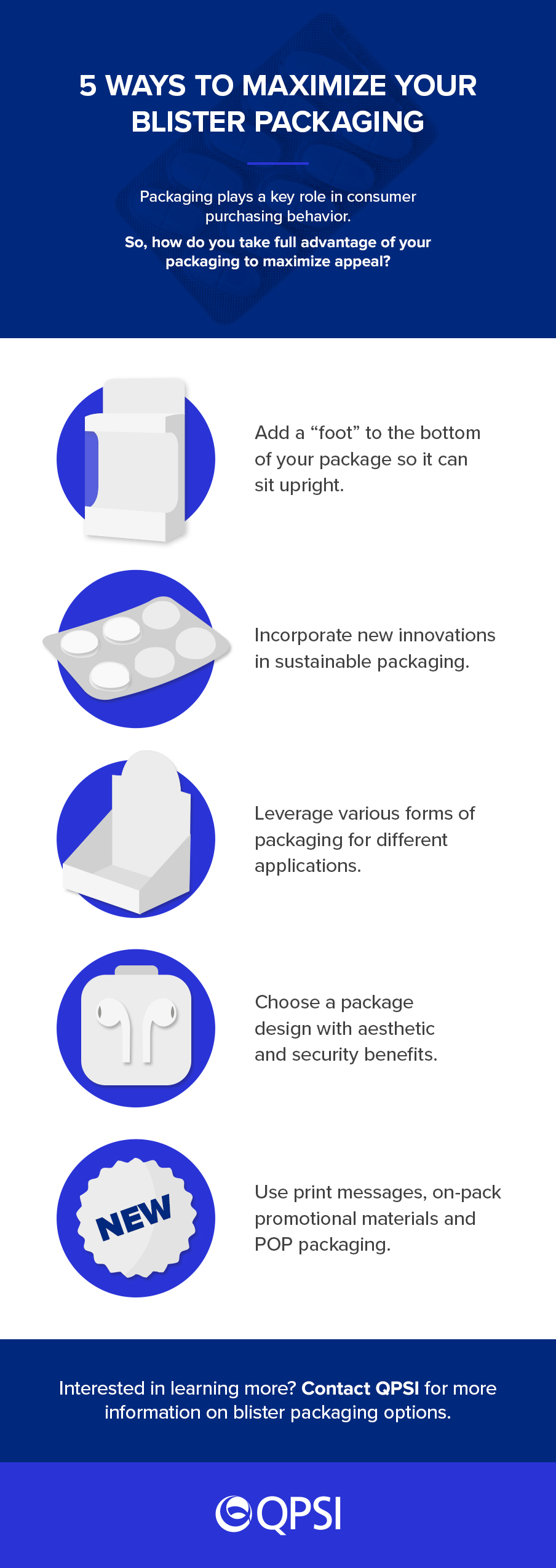 5 Ways to Maximize Your Blister Packaging Infographic